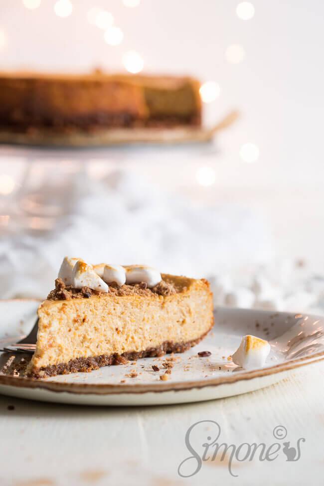 Pompoen cheesecake | simoneskitchen.nl