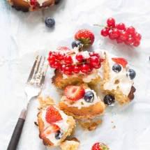 Frangipanetaartjes met zomerfruit | simoneskitchen.nl