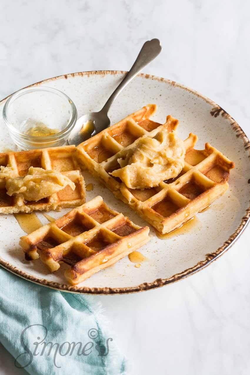 Wafels met gebrande boter | simoneskitchen.nl