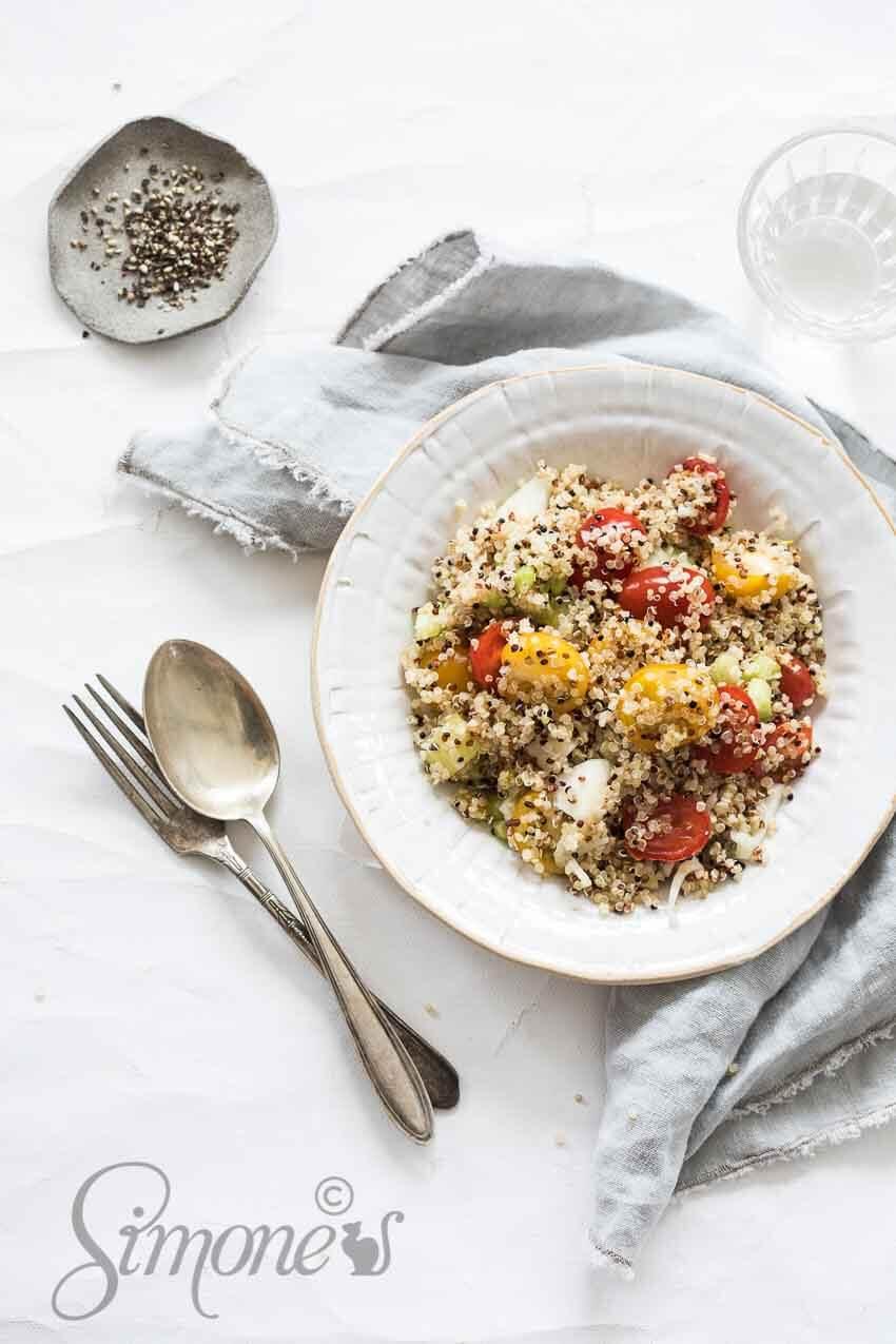 Salade van quinoa en venkel | simoneskitchen.nl