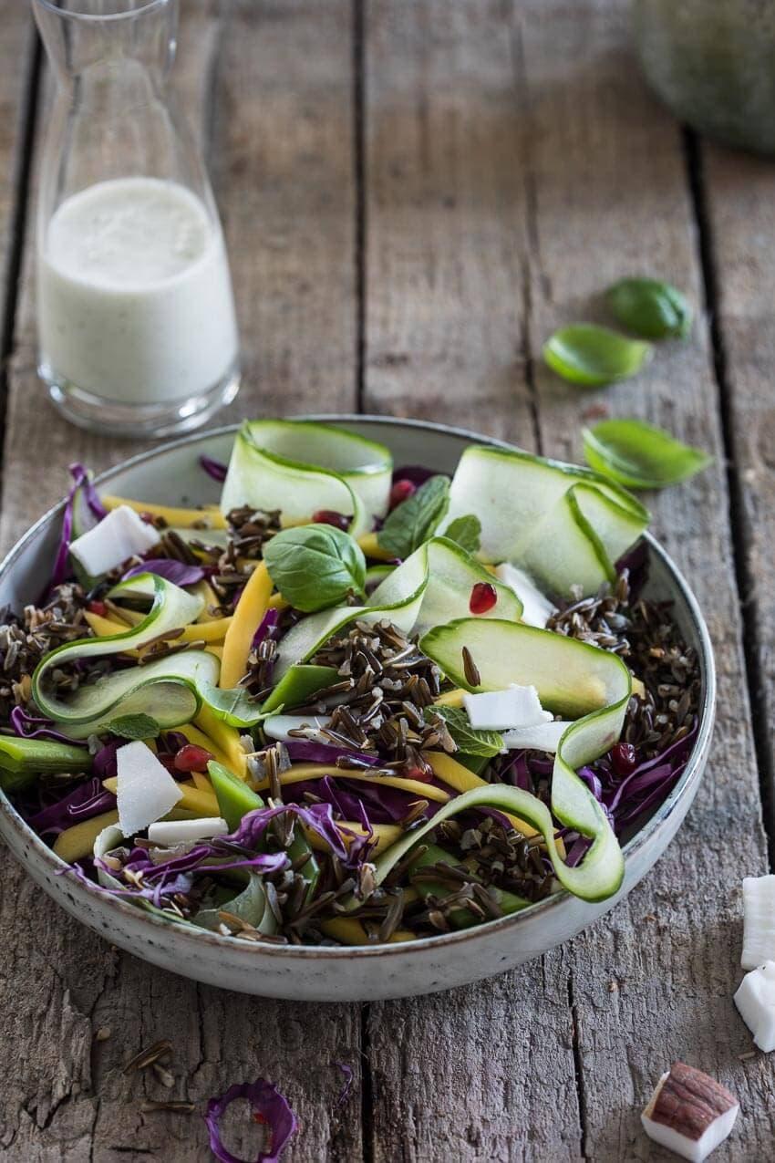 Salade met zwarte rijst | simoneskitchen.nl