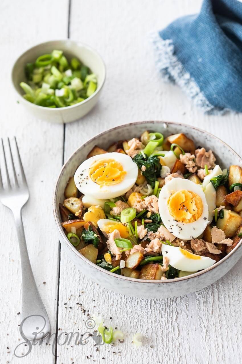 Aardappelsalade met zalm | simoneskitchen.nl
