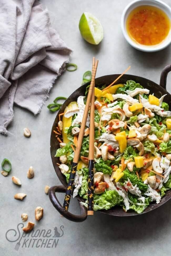 Thaise salade met Chinese kool   simoneskitchen.nl