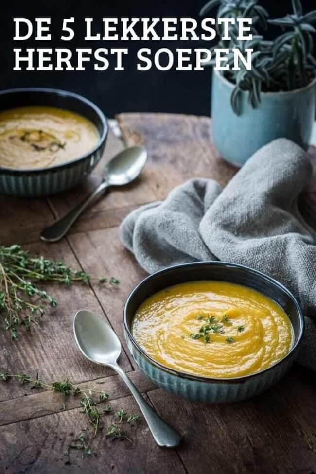 De vijf lekkerste soeprecepten voor de herfst op een rij!