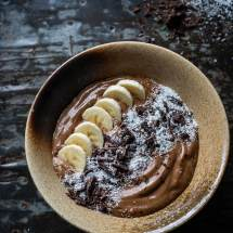 Chocolade koffie smoothiebowl