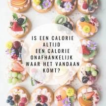 Is een calorie een calorie?