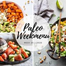 Paleo weekmenu week 25