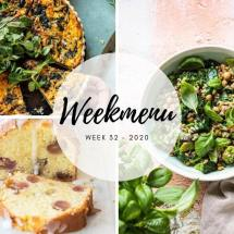 Weekmenu voor week 32