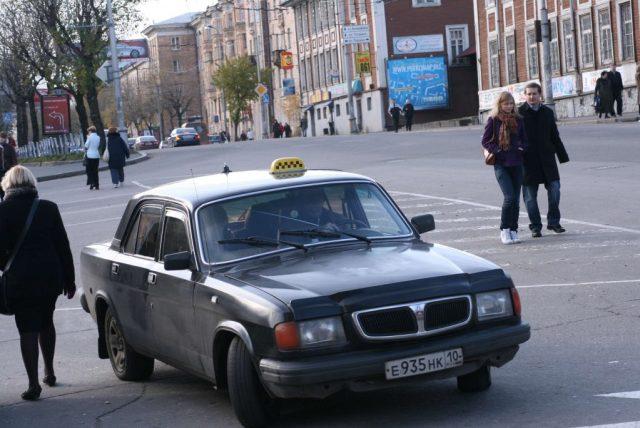 So oder so ähnlich sieht ein typisches Taxi in Russland aus
