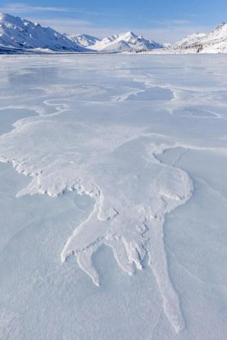 Rivière gelée.