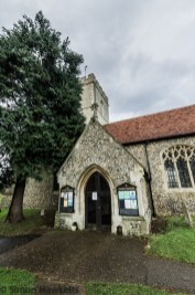 Pictures of St Giles Church in Codicote - front entrance and path