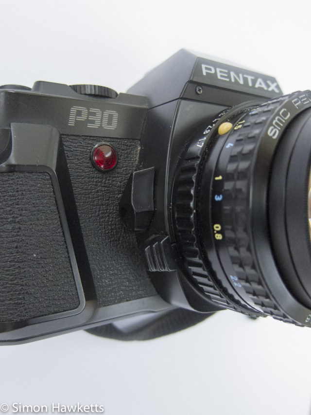 pentax p30 - lens release lever