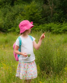 My daughter assisting in hunting for butterflies today