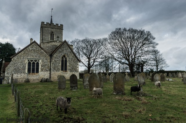 Pictures of St Giles Church in Codicote - the graveyard