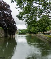 The Moat round The Bishops Palace in Wells