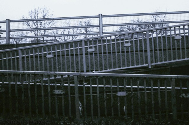 Yashica MG-1 sample pictures - Walkway handrails