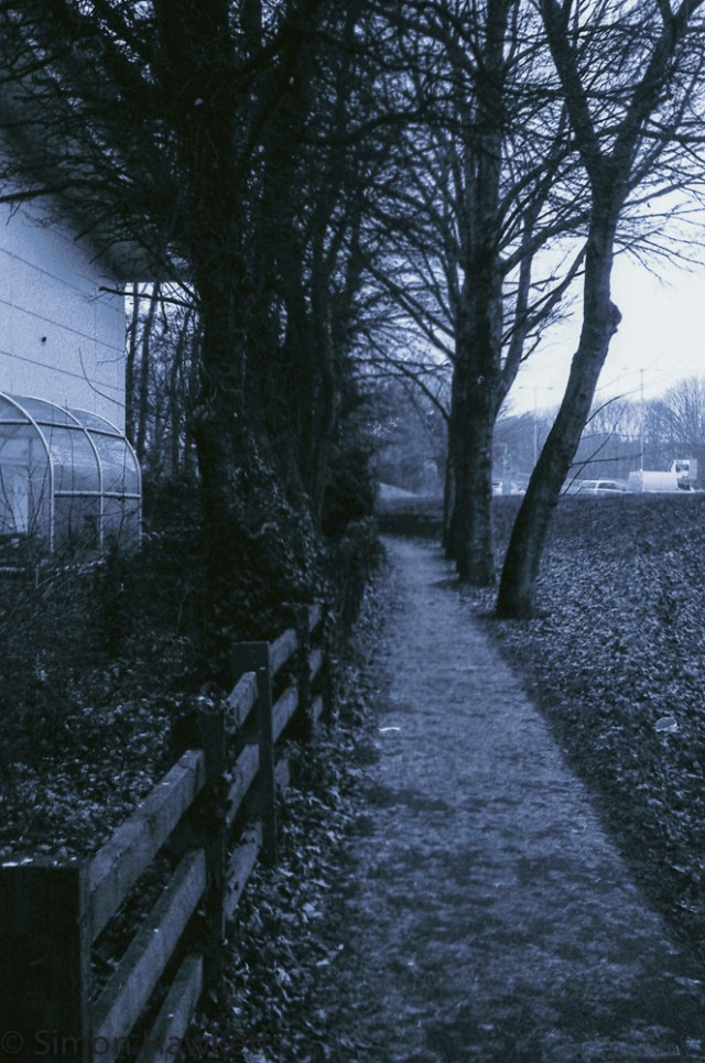 Yashica MG-1 sample pictures - Walkway by Asda in Stevenage