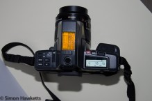Yashica 230AF with Flash fitted