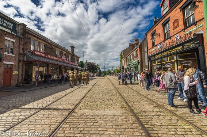 A wide angle picture of the village in the Beamish museum