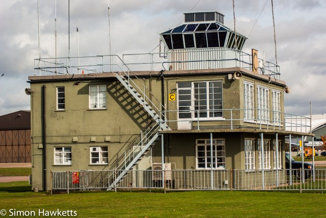 Duxford aircraft museum pictures with Pentax K200 - The control tower at duxford