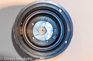 Carl Jeiss Jena 50mm with fully re-assembled aperture blades