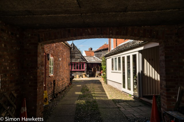 Pictures of Framlingham in Suffolk - A courtyard in the town
