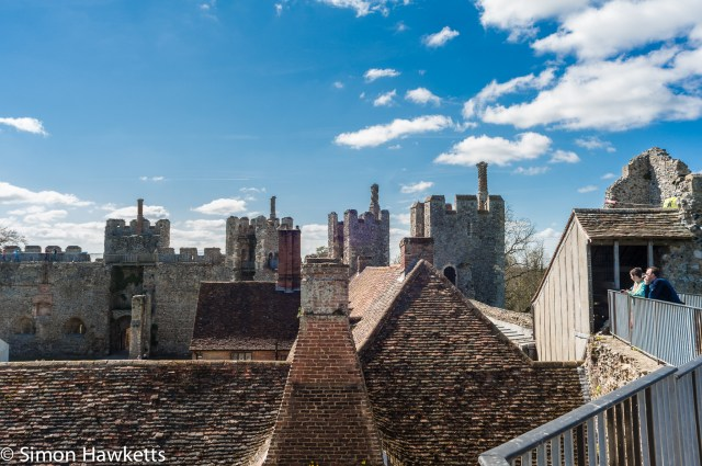 Pictures of Framlingham in Suffolk - Looking over the roofs from Framlingham Castle