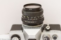 Praktica PLC 3 35mm slr camera - Top view of lens and shutter release
