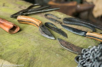 Kentwell Hall Tudor day pictures - Blacksmiths tools