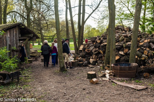 Kentwell Hall Tudor day pictures - The woodcutter
