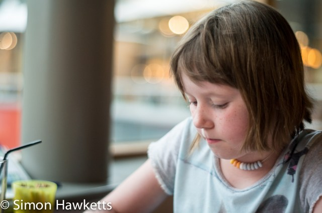 Pictures from Woburn Forest CenterParcs - A girl drawing at the dinner table