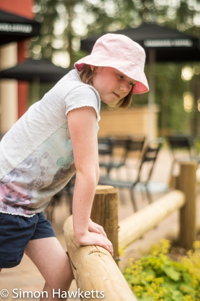Pictures from Woburn Forest CenterParcs - A girl looking into the stream