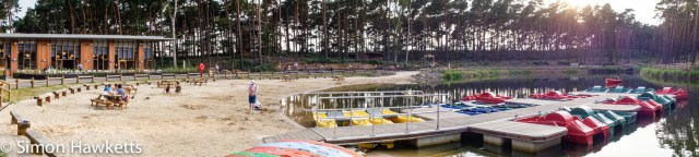 Pictures from Woburn Forest CenterParcs - A panorama of the boating lake