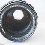 Checking a vintage camera's aperture