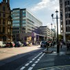 Looking down Victoria Street to the Dept of trade buildings