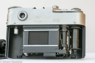 Fed 4 35mm rangefinder film camera showing film chamber