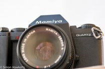 Mamiya ZM Quartz 35mm slr camera front view