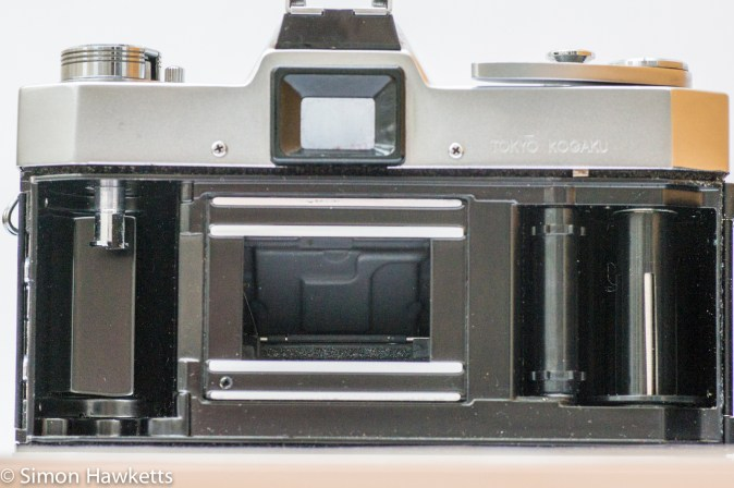 Topcon Unirex - film chamber showing back of mirror
