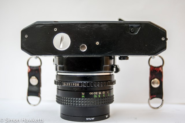Cosina CT-1 35mm slr showing camera base