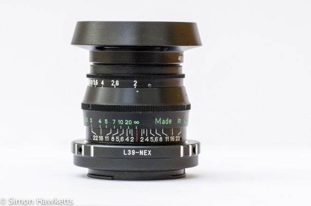 Jupiter 8 50mm f/2.0 fitted with Nex adapter