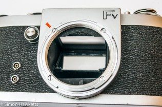 Miranda Fv 35mm slr showing dual bayonet and screw thread mount