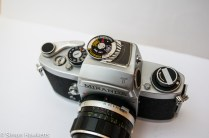 Miranda Fv 35mm slr showing top view of camera
