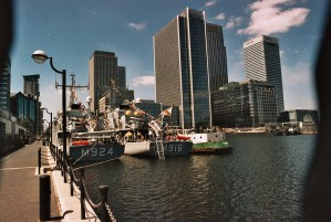 Photos from film found in old cameras - docklands in London