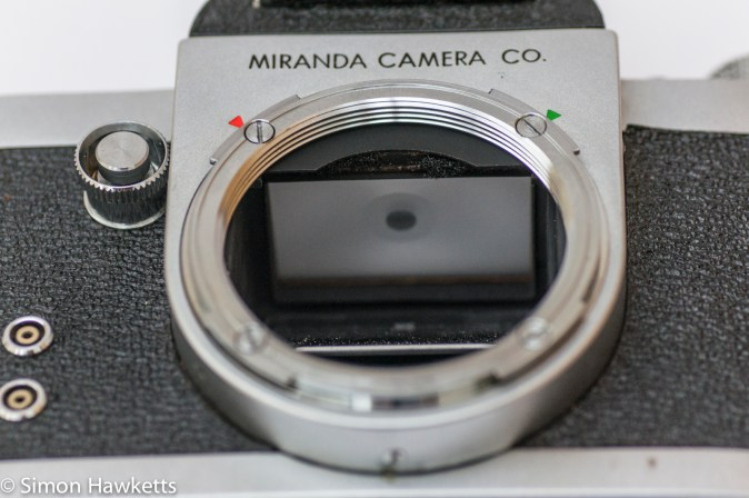Miranda Dr 35mm SLR showing miranda dual lens mount
