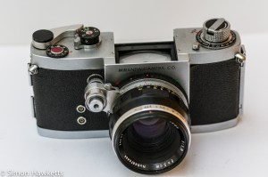 Miranda Dr 35mm SLR showing viewfinder removed