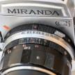 Miranda G 35mm slr camera showing aperture and focus