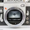Miranda G 35mm slr camera showing mirror lockup with mirror down