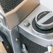 Miranda G 35mm slr camera showing viewfinder release button