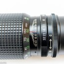 Optomax 300mm f/5.6 showing focus and aperture adjustment