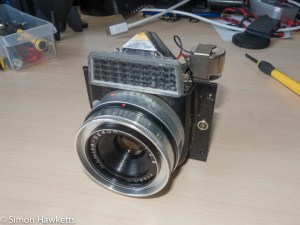 copal-X shutter attempted repair - the removed shutter and lens assembly